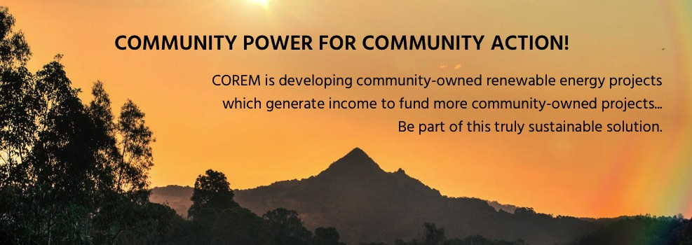 COREM - Community Owned Renewable Energy Mullumbimby